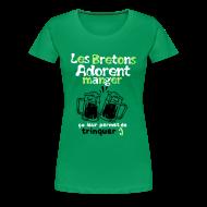 Tee shirts ~ T-shirt Premium Femme ~ Tee shirt femme les bretons adorent manger