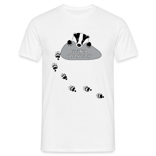 t-shirt kinder baby kleiner frechdachs dachs frech spur tierspur pfote dreckspatz schmutzfink tiershirt - Männer T-Shirt
