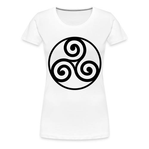 Triskèle cerclé - T-shirt Premium Femme