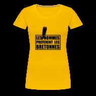 Tee shirts ~ T-shirt Premium Femme ~ Les Hommes préfèrent les Bretonnes