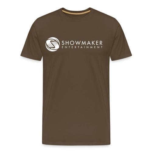 Showmaker Herren Shirt Logo weiß - Männer Premium T-Shirt