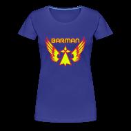 Tee shirts ~ T-shirt Premium Femme ~ T-shirt je suis barman super hero breton