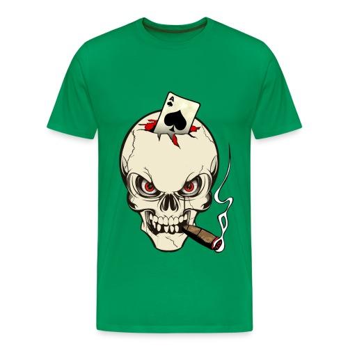 poker skull - T-shirt Premium Homme