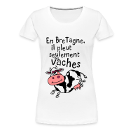 Tee shirts ~ T-shirt Premium Femme ~ Tee shirt humoristique breton en bretagne il pleut