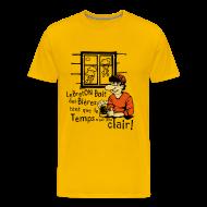 Tee shirts ~ T-shirt Premium Homme ~ Tee shirt humoristique bierre tant pas clair