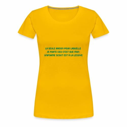 Uniforme à la lessive - T-shirt Premium Femme