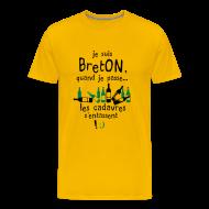 Tee shirts ~ T-shirt Premium Homme ~ Le Breton passe les cadavres s'entassent !