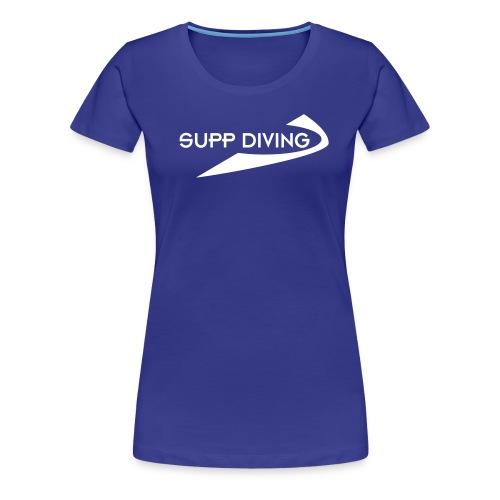 Girlieshirt mit weisser Schrift - Frauen Premium T-Shirt