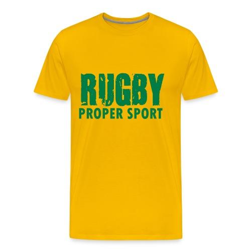Rugby Proper Sport t shirt - Men's Premium T-Shirt