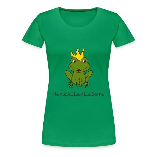 Froni mit Schriftzug Herzallerliebste - Frauen Premium T-Shirt
