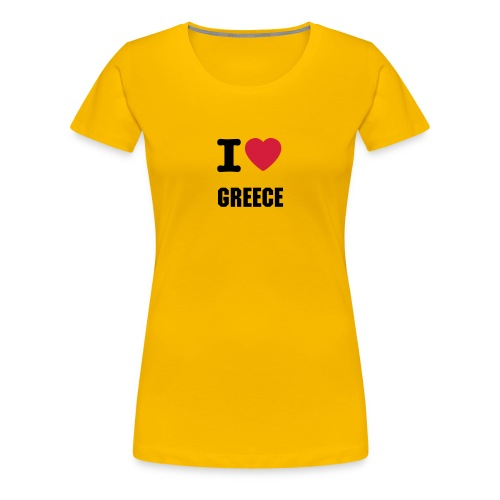 I love GREECE - Women's Premium T-Shirt
