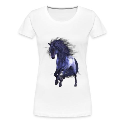 Blue Unicorn - Frauen Premium T-Shirt