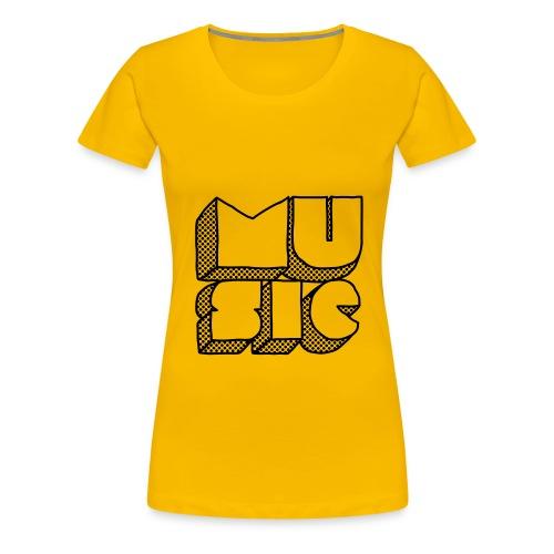 play music  - T-shirt Premium Femme