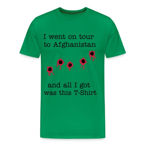 I went on tour to Afghanistan - Bullet Holes - Men's Premium T-Shirt