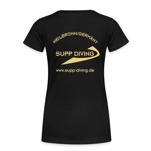 Girlieshirt mit goldener Schrift - Frauen Premium T-Shirt