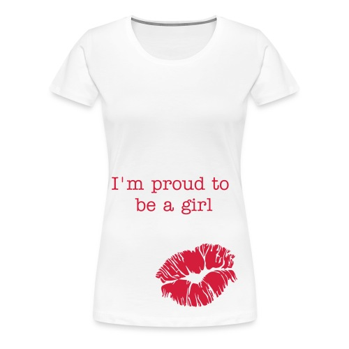 T-shirt wit - I'm proud to be a girl - Vrouwen Premium T-shirt