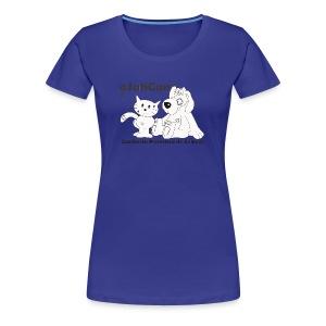 mod. logo blanco mujer m/c - Camiseta premium mujer