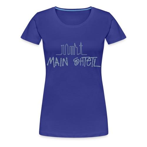 Main Shtetl-Motiv Silber-Metalic - Frauen Premium T-Shirt