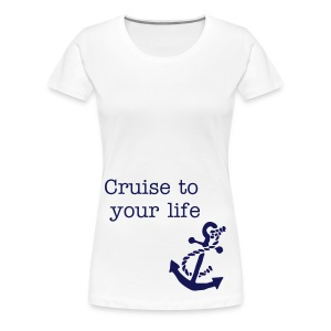 T-shirt wit - cruise to your life - Vrouwen Premium T-shirt