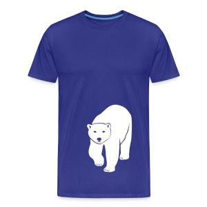 tier t-shirt eisbär polar bear ice knut klimawandel eis nordpol bär stop global warming CO2 - Männer Premium T-Shirt