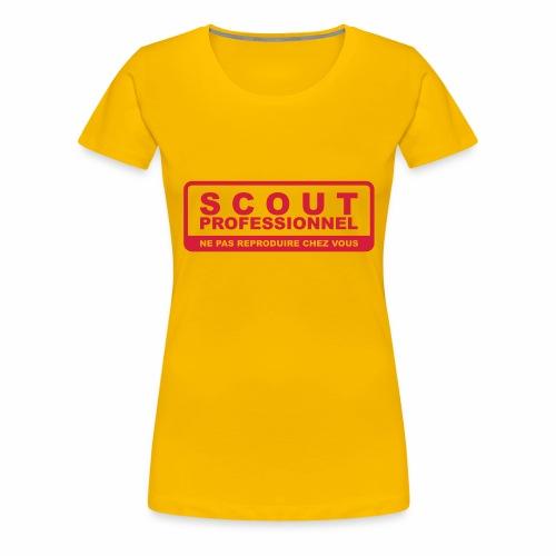 Scout Professionnel - T-shirt Premium Femme