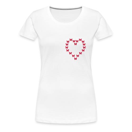 butterfly heart - T-shirt Premium Femme