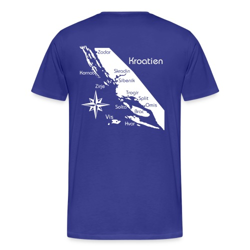 T-Shirt Segeln in Kroatien - Männer Premium T-Shirt
