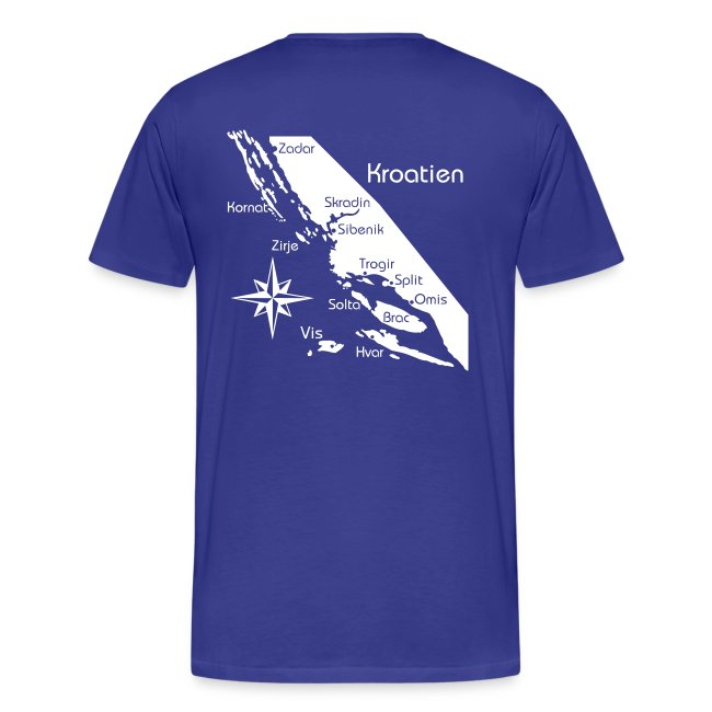 T-Shirt Segeln in Kroatien