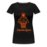 T-shirts ~ Vrouwen Premium T-shirt ~ Cupcake Queen Orange