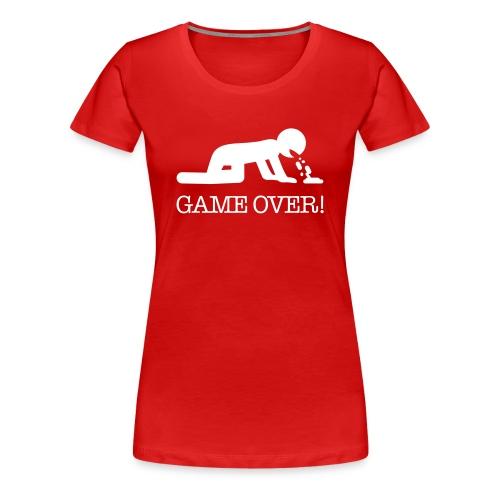 Modello gameover donna rosso - Maglietta Premium da donna