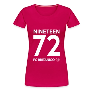 FC Británico 72 White Text Ladies T-Shirt - Women's Premium T-Shirt