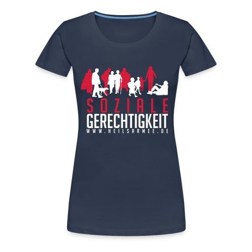 Soziale Gerechtigkeit (rot/weiß) - Frauen Premium T-Shirt
