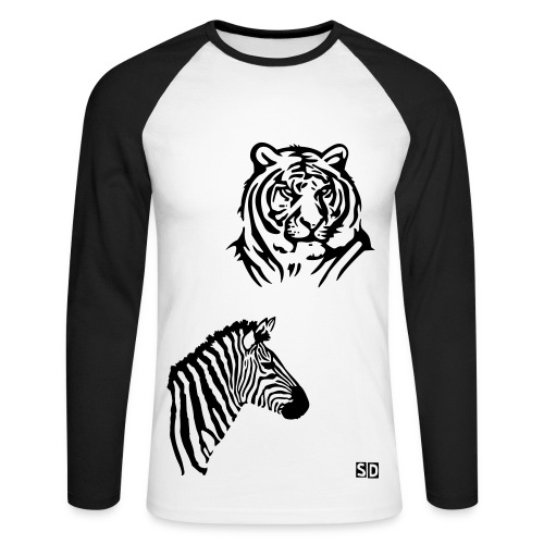 Baseball-shirt homme animaux - T-shirt baseball manches longues Homme