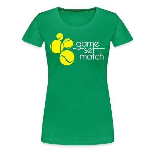 Tennisshirt Dames - Vrouwen Premium T-shirt
