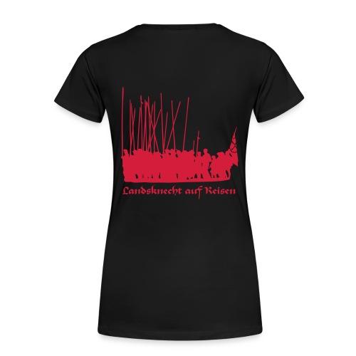 Landsknecht auf Reisen II BACK - Frauen Premium T-Shirt