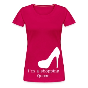 T-shirt roze - Shopping Queen - Vrouwen Premium T-shirt