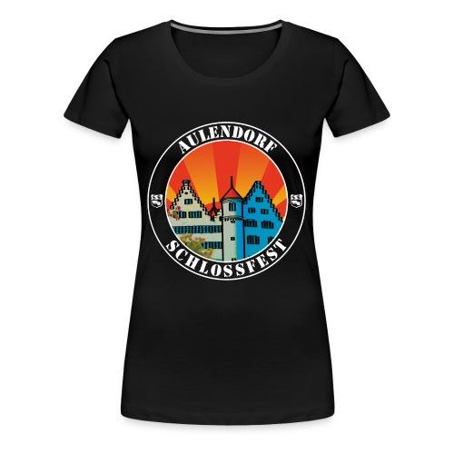 Schlossfest Shirt weiss - Frauen Premium T-Shirt