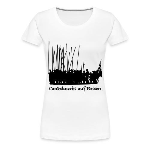 Landsknecht auf Reisen II FRONT - Frauen Premium T-Shirt