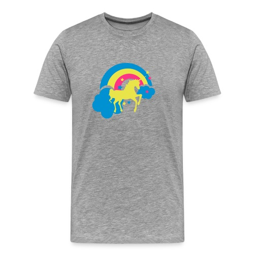 horse and rainbow - Men's Premium T-Shirt