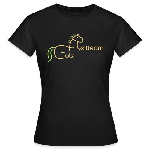 Frauen T-Shirt - Wie 25815790-19417972, aber mit zusätzlichem kleinen Logo auf dem Ärmel