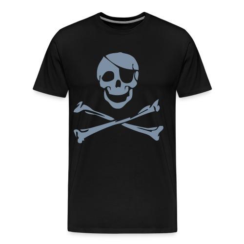 Skull Silber-Metallic - Männer Premium T-Shirt