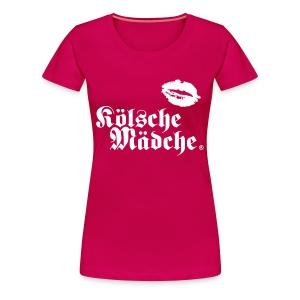 Kölsche Mädche Kiss - Frauen Premium T-Shirt
