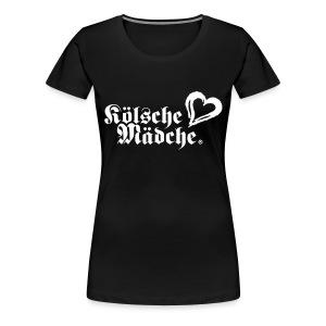 Kölsche Mädche Herz - Frauen Premium T-Shirt
