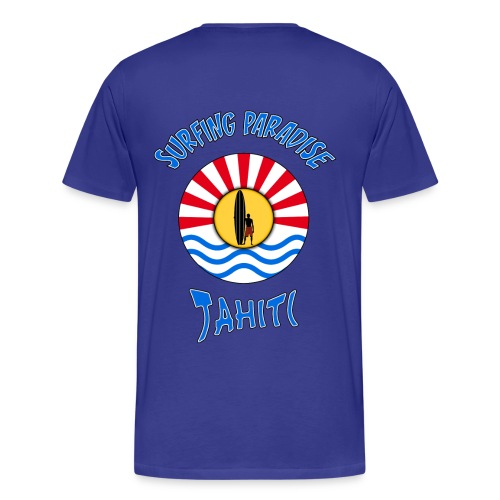 t-shirt tahiti surfing paradise - Men's Premium T-Shirt