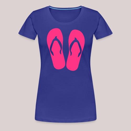 Flip Flop Sommer, Summer, Beach, Strand, Urlaub, Girl, Frau - Frauen Premium T-Shirt