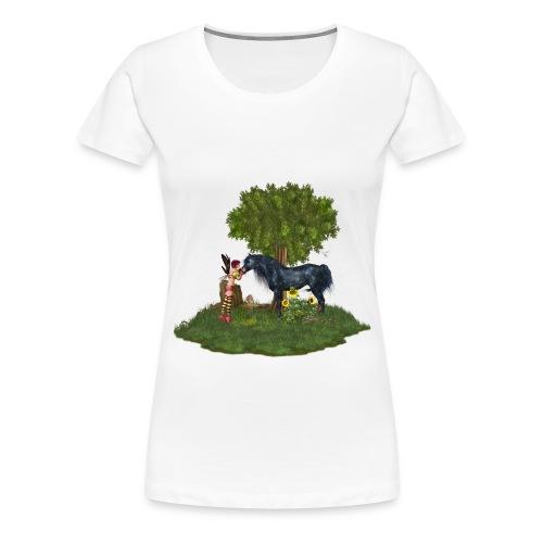 The Last Black Unicorn - Frauen Premium T-Shirt