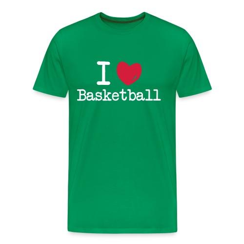 I love Basketball - Herre premium T-shirt