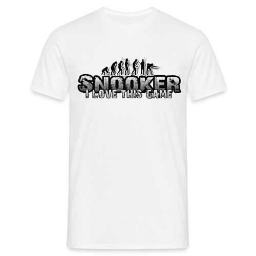 i love snooker - Männer T-Shirt