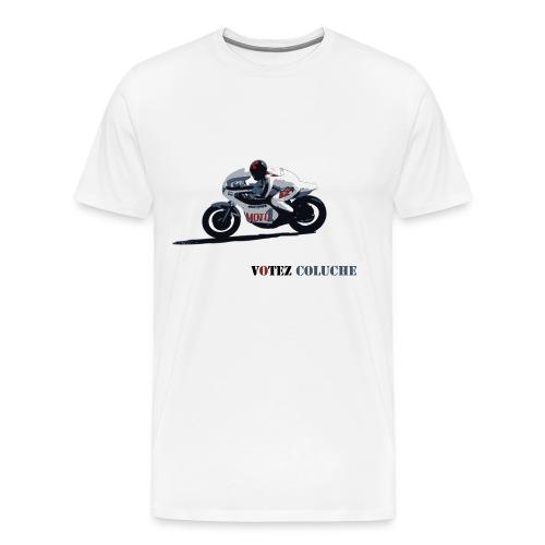 Coluche à moto bis - T-shirt Premium Homme