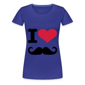 Vrouwenshirt-Korte Mouwen-I-Love-Snor - Vrouwen Premium T-shirt